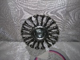 kotouč brusný drátěný copánový průměr 125 x 0,6 mm závit M14 radiální ocel - V Y P R O D Á N O