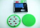 kotouč leštící 3M 50487 (09550) pěnový, zelený (oranžový), suchý zip, průměr 150 mm (VYPRODÁNO)