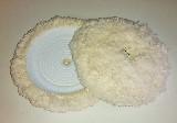 kotouč leštící, vlna, beránek, suchý zip a matice, průměr 180 mm