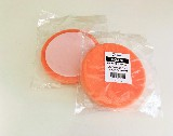 kotouč, houba leštící průměr 150 x 25 mm, suchý zip, oranžová, ROBERLO